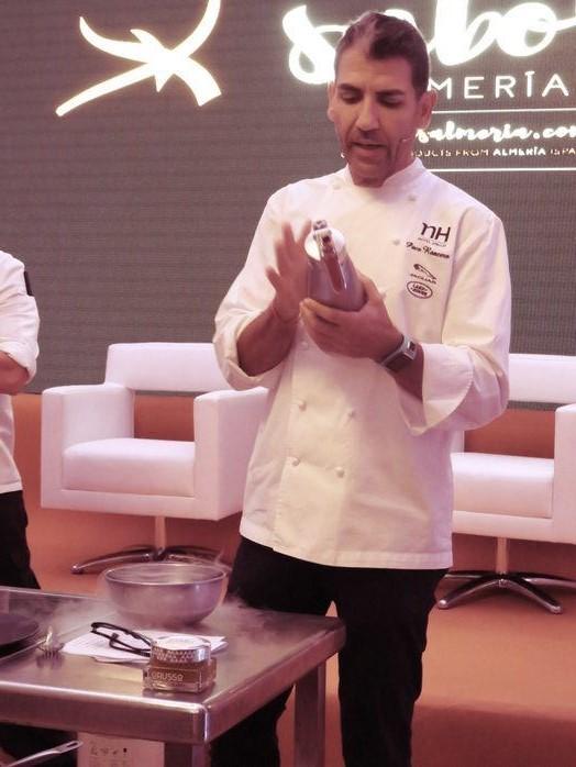 Perlas de AOVE LoRUSSo utilizadas por el Chef Paco Roncero