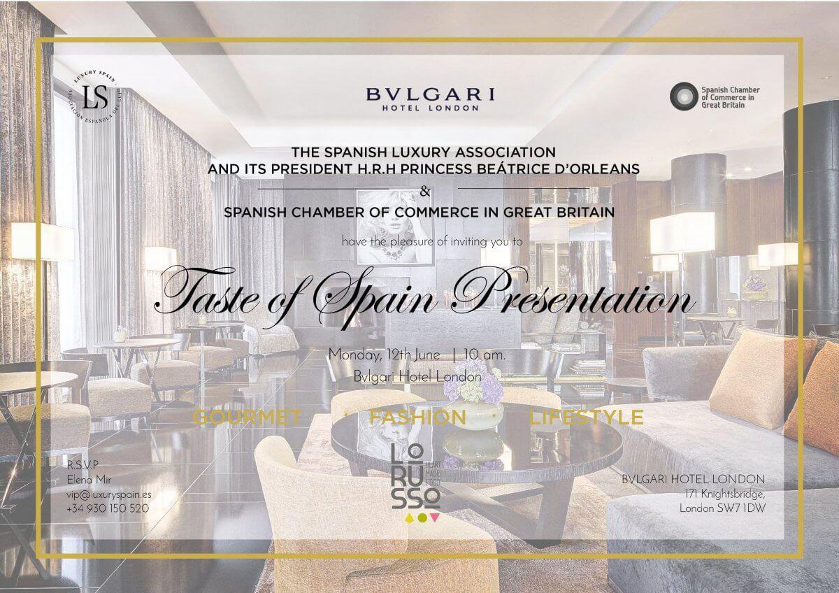 Mermeladas premium ecologicas LoRUSSo en la presentación oficial de Luxury Spain en Londres