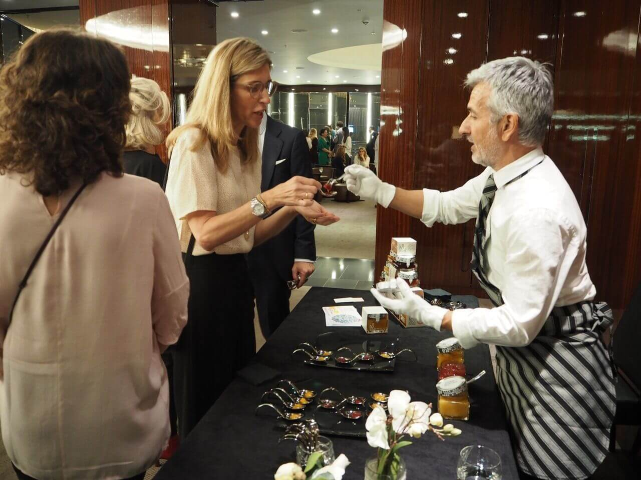 Degustación mermeladas premium LoRUSSo en el Hotel Bvlgari de Londres
